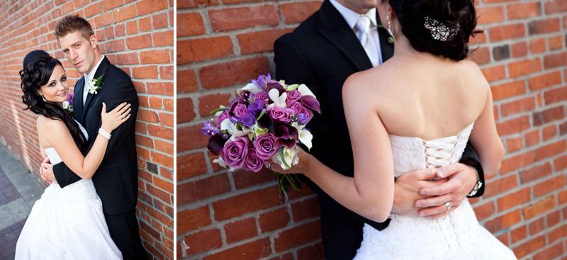 wedding photography vancouver, urban, brick, city
