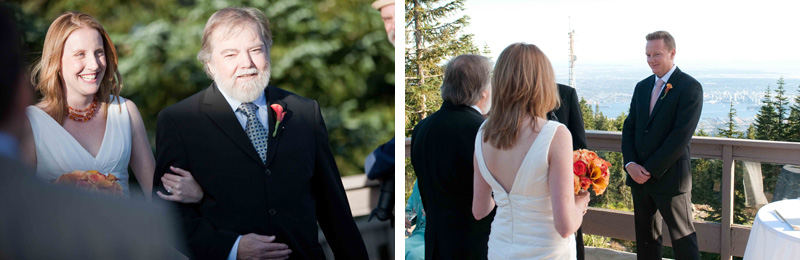 wedding photos, grouse mountain, vancouver, ceremony