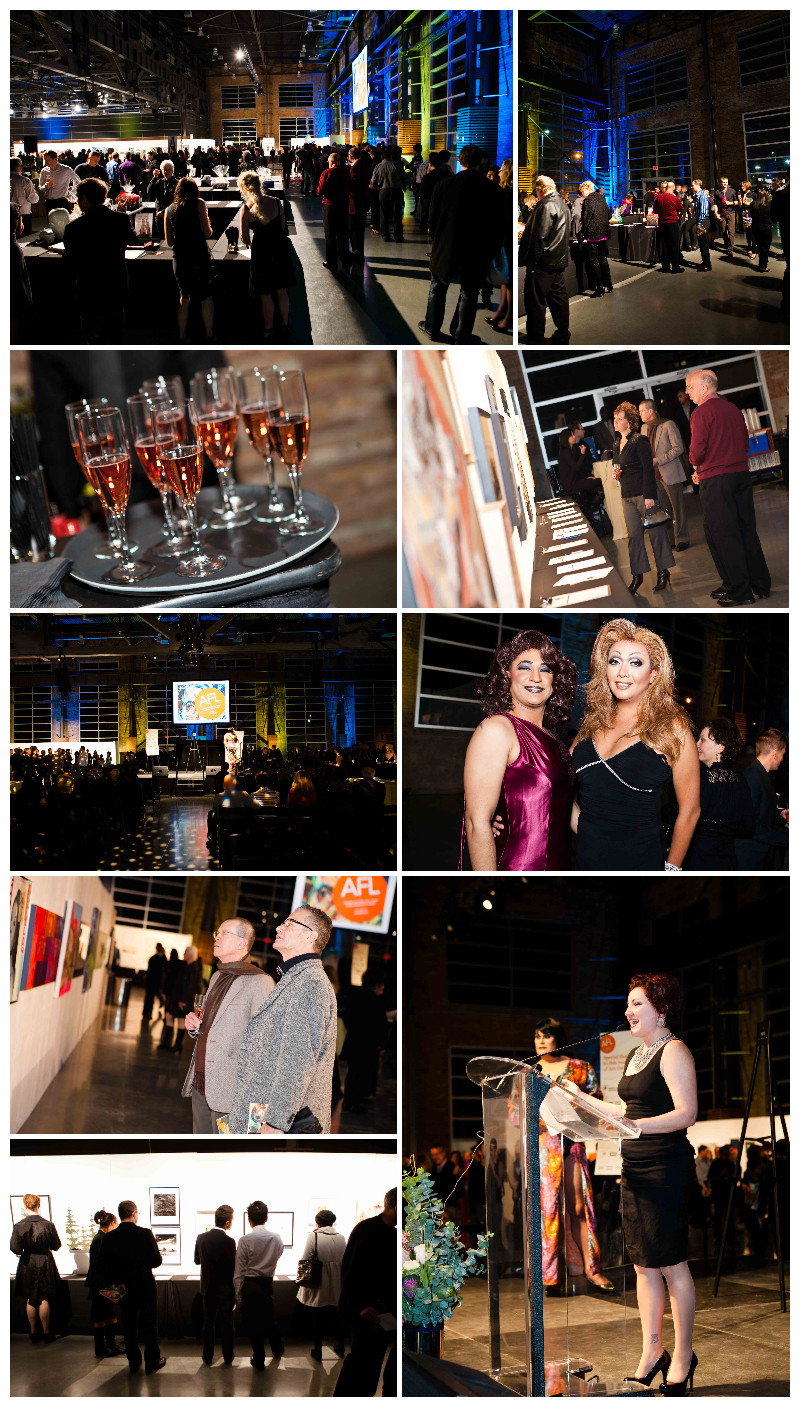 event photographer, vancouver, rocky mountaineer station, art for life, fundraiser