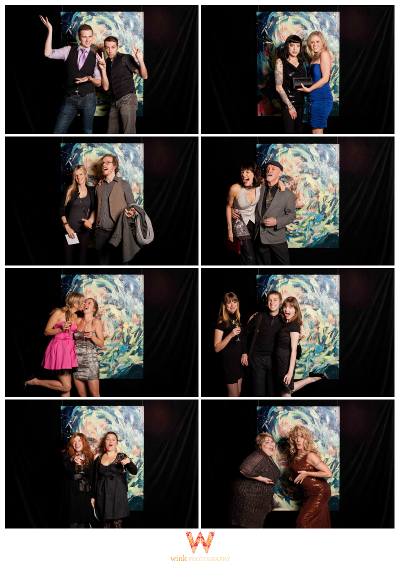 rocky mountaineer, art for life, vancouver, fundraiser, photobooth, wink photography, event photography, booth