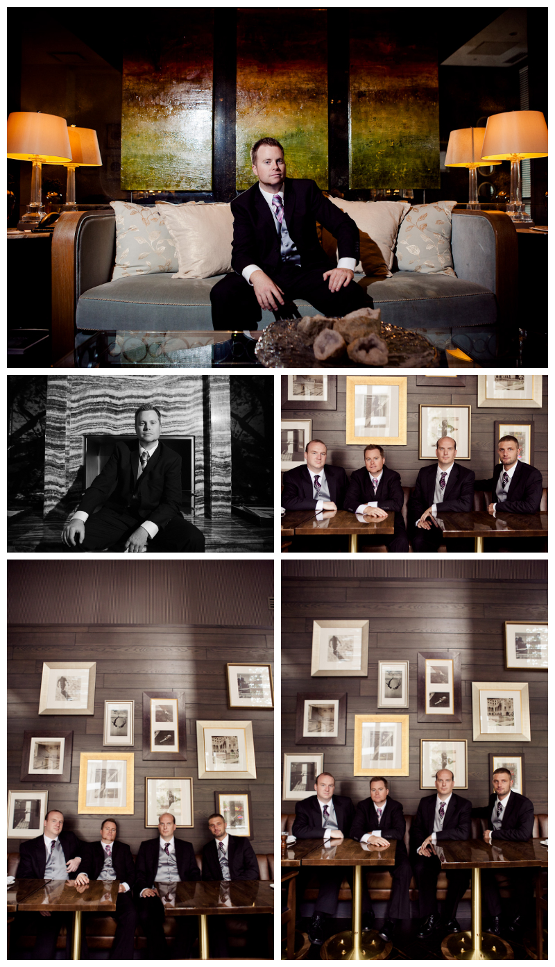 guys getting ready, wedding photography, vancouver, loden hotel