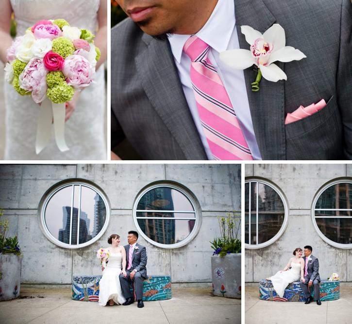 coal harbour wedding, wedding details, wedding flowers, wedding bouquet, quince fine florals, coal harbour wedding photos