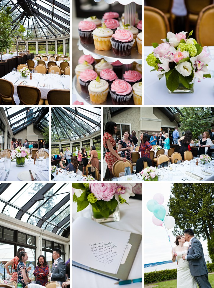 wedding reception details, quince fine florals, teahouse wedding, stanley park wedding, vancouver wedding photos
