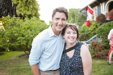 wink photography, justin trudeau, jana frandsen, event photographer, vancouver