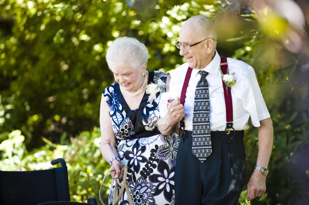 grandparents at wedding ceremony