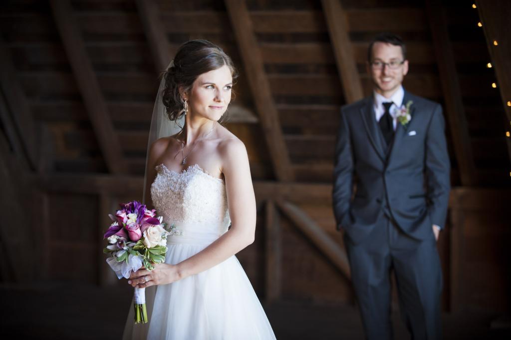 bride and groom in barn, saar bank farms wedding, abbotsford wedding photographer