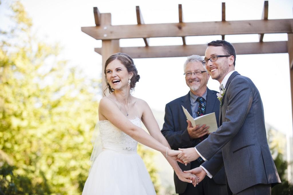 funny moment wedding ceremony abbotsford secret garden