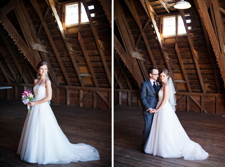 bride and groom in barn at saar bank farms in chilliwack, wedding couple in barn, barn wedding chilliwack