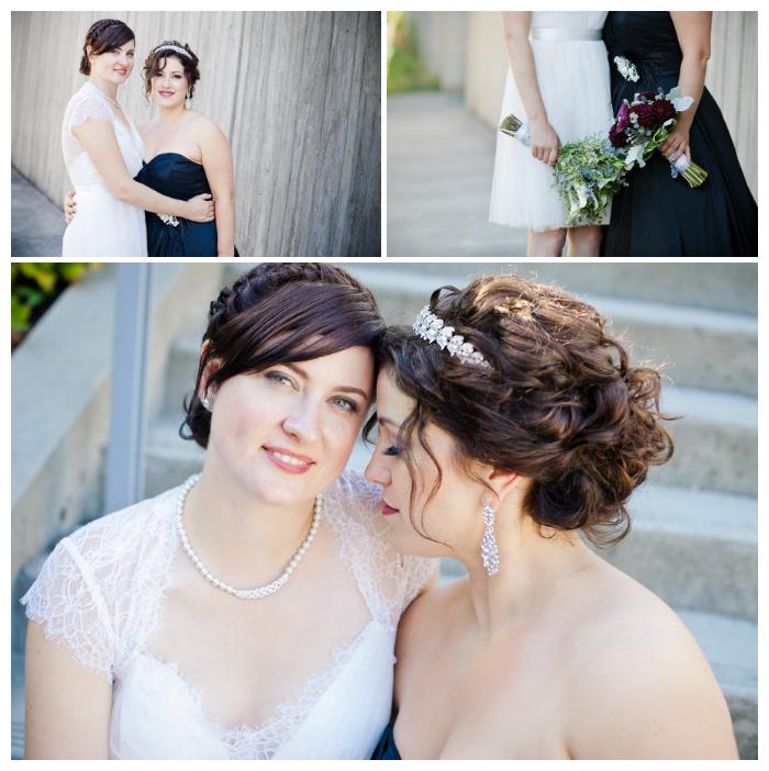 lesbian couple wedding photos at richmond oval