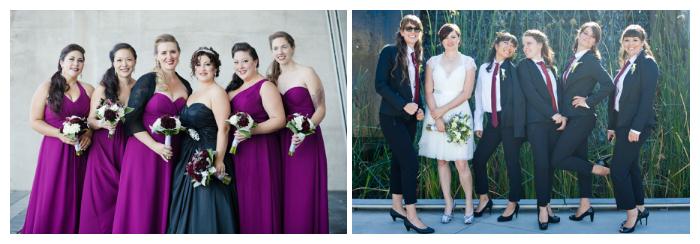 wedding party photos girls as groomsmen