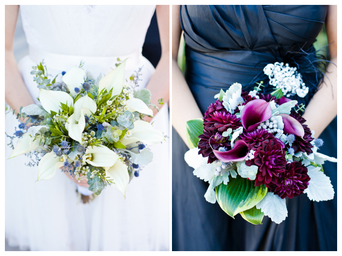 two brides wedding bouquets