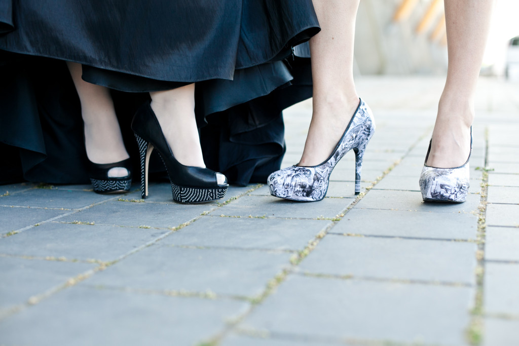 two brides high heels