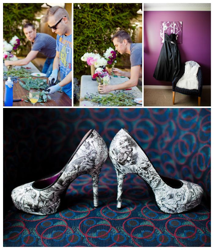 wedding details photos alice in wonderland shoes