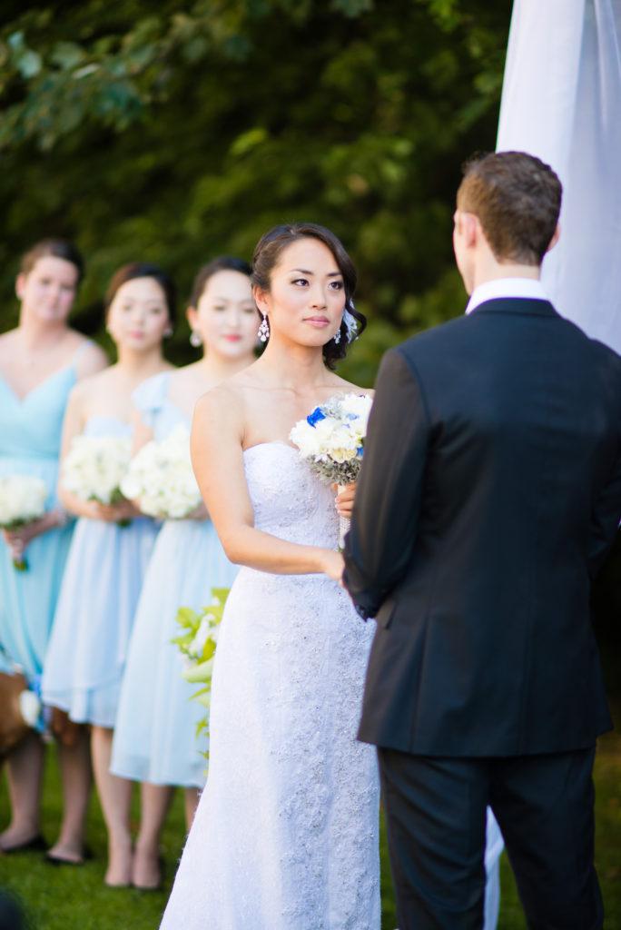bride during wedding ceremony port moody