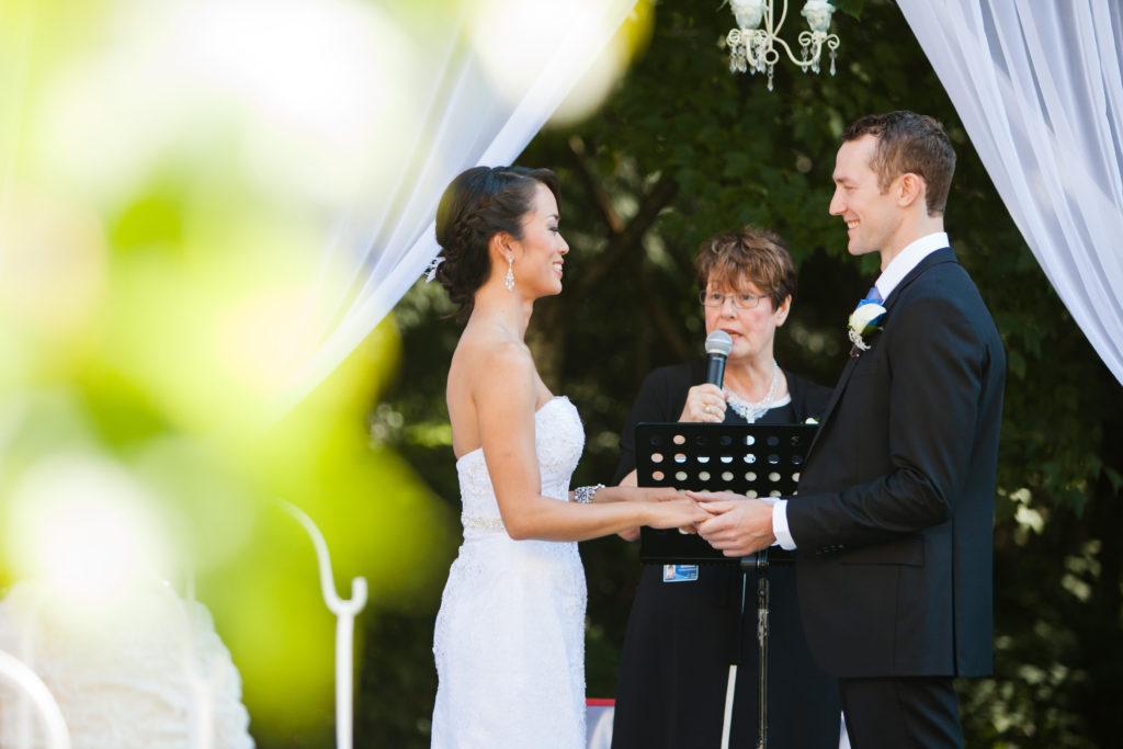port moody wedding ceremony couple