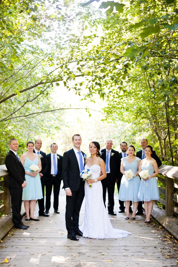 port moody wedding bridal party portrait