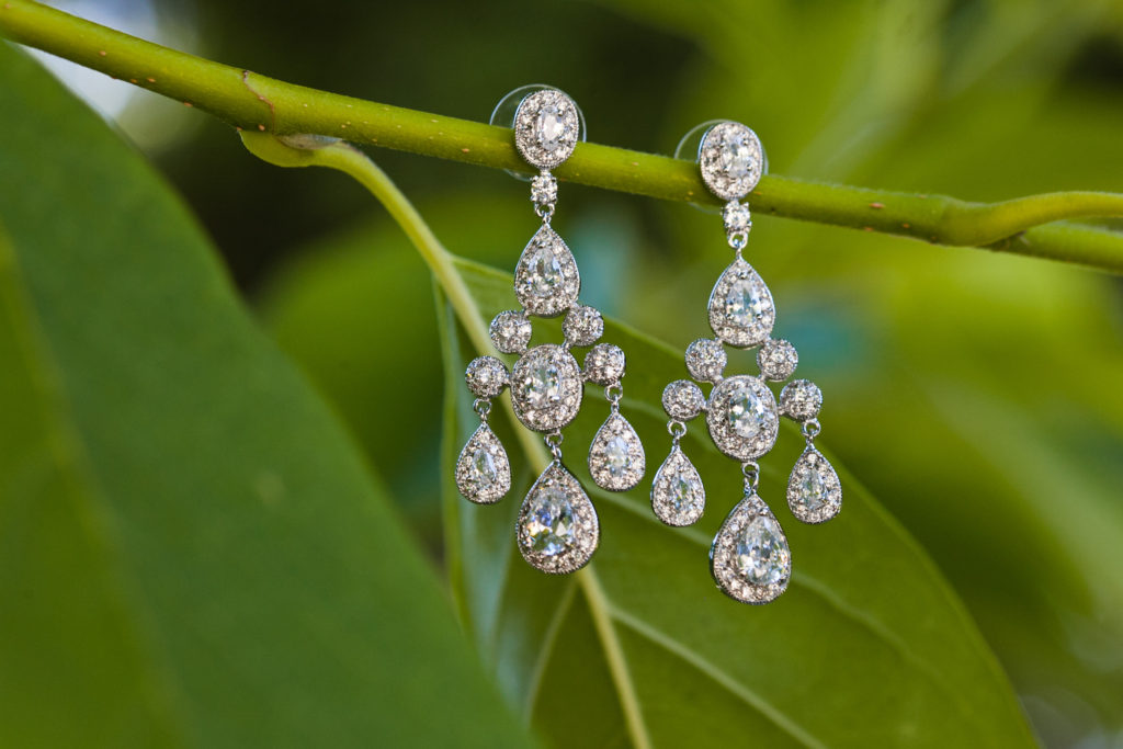 wedding earring details