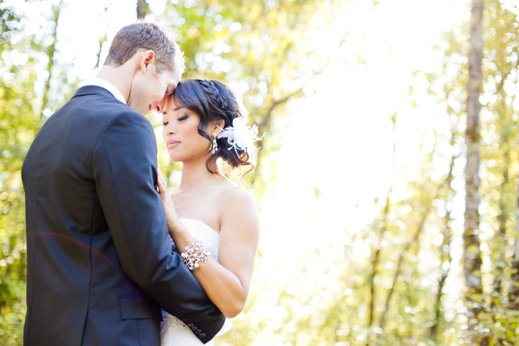 old orchard park port moody wedding portrait