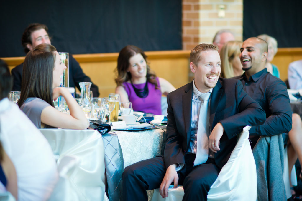 wedding guests laughing port moody
