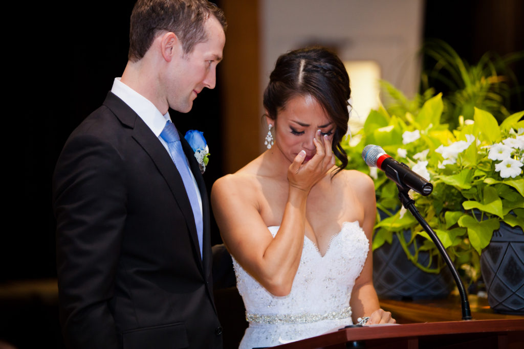crying bride's speech at port moody wedding