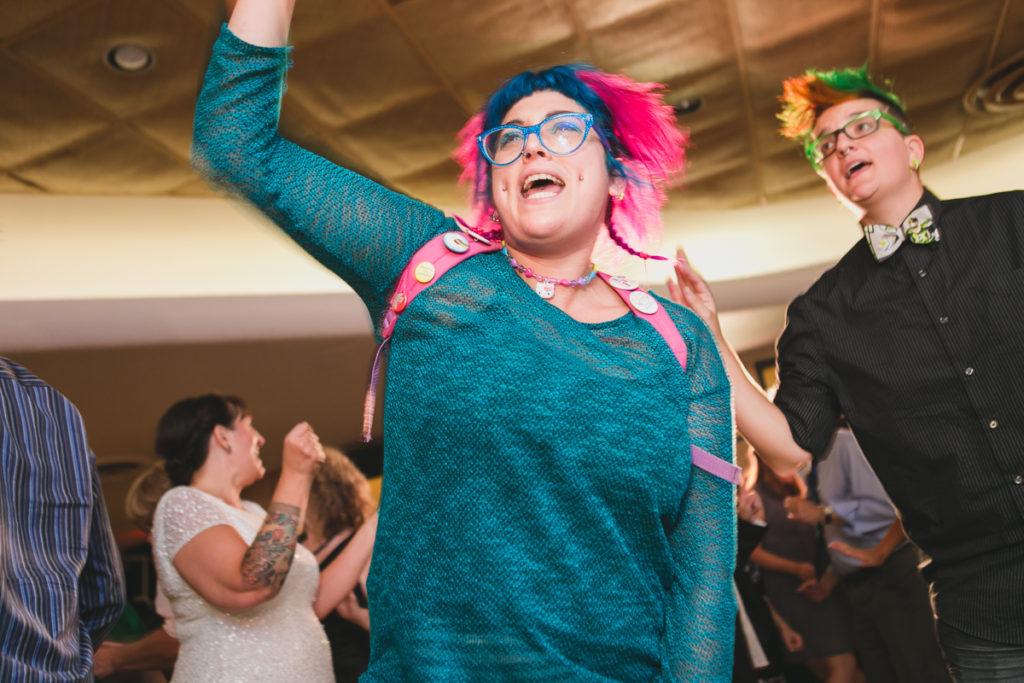 rock n roll bride, punk wedding