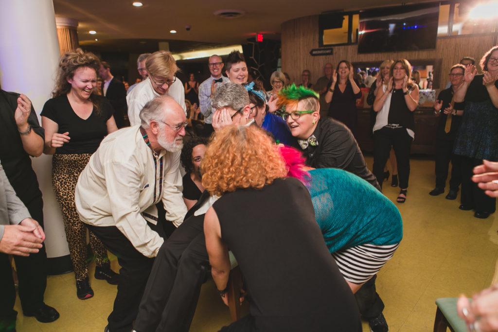 same-sex wedding hora