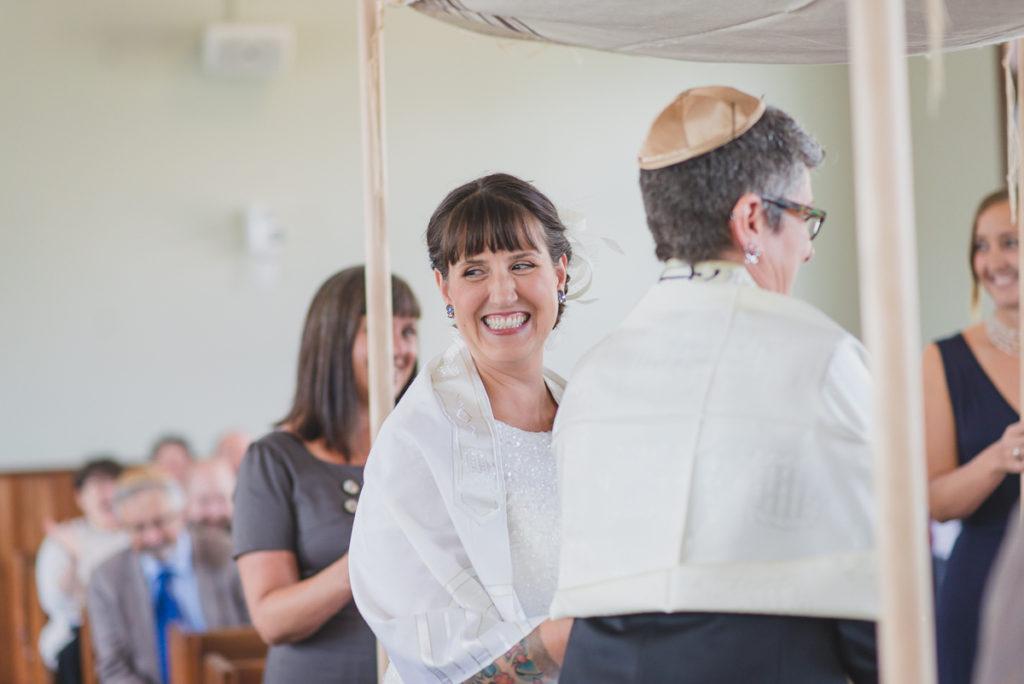 or shalom wedding ceremony, vancouver synagogue wedding