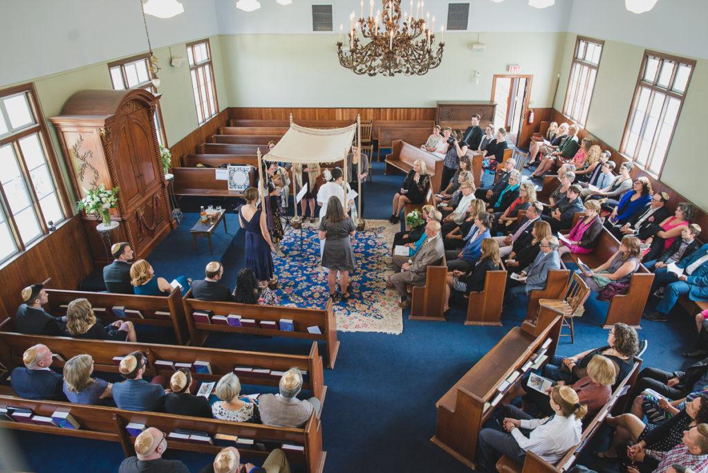 or shalom synagogue, synagogue wedding, chuppah, vancouver synagogue