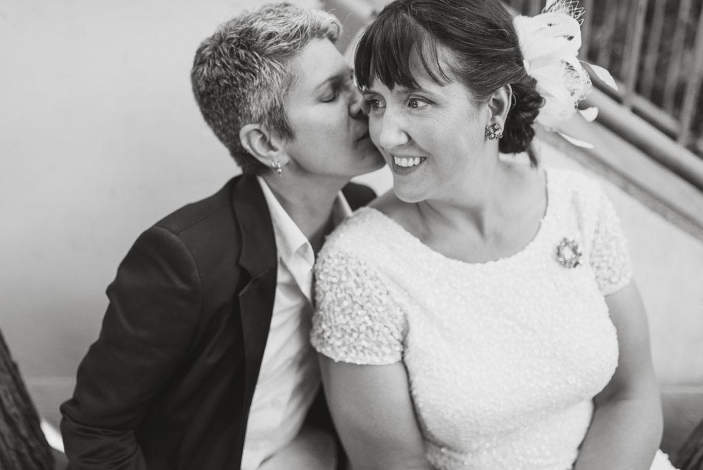 lgbt wedding vancouver, bride and bride portrait