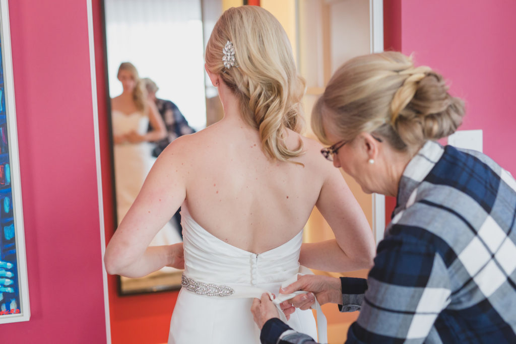 bride getting ready opus hotel for brix vancouver wedding