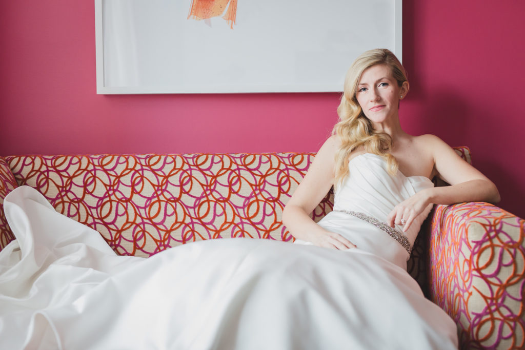 offbeat bridal portrait at opus hotel vancouver