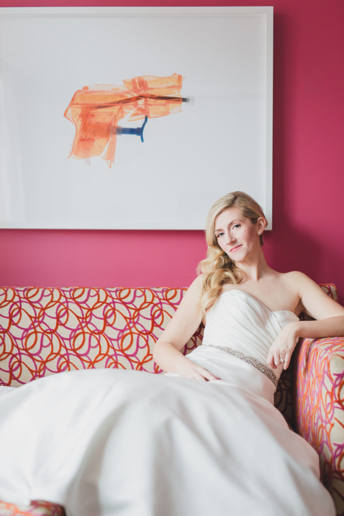edgy bridal portrait at opus hotel vancouver