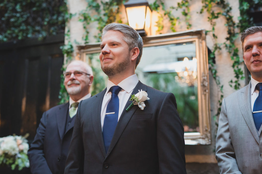 emotional groom at vancouver wedding ceremony