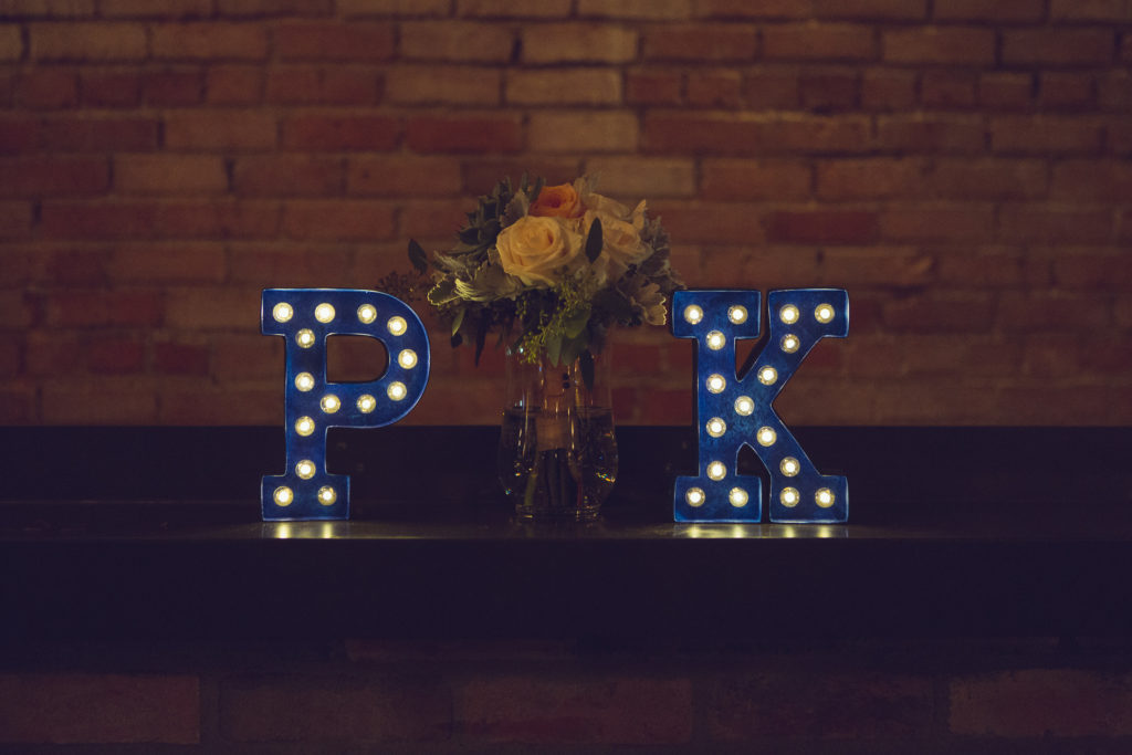 wedding monogram marquee lights vancouver