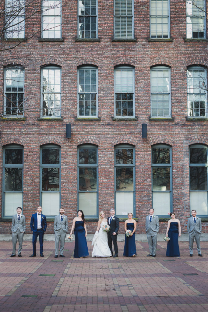 edgy wedding party photos vancouver