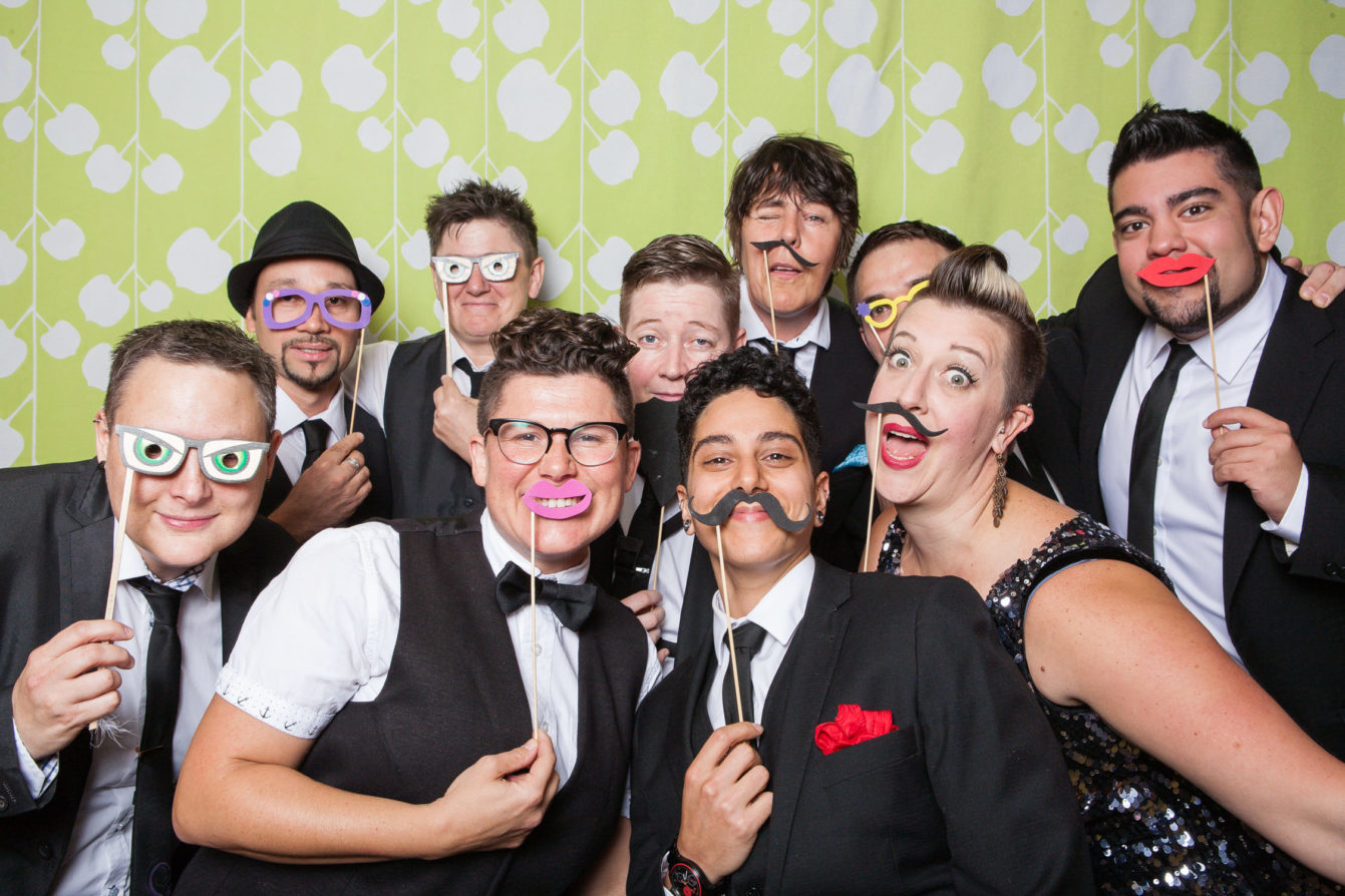 queer as funk band vancouver wedding photographer photobooth