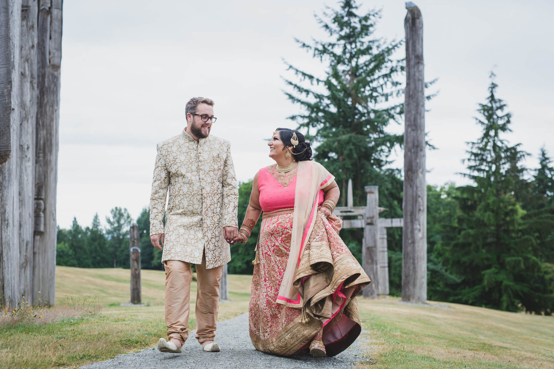 non-traditional indian wedding, burnaby mountain couples portraits