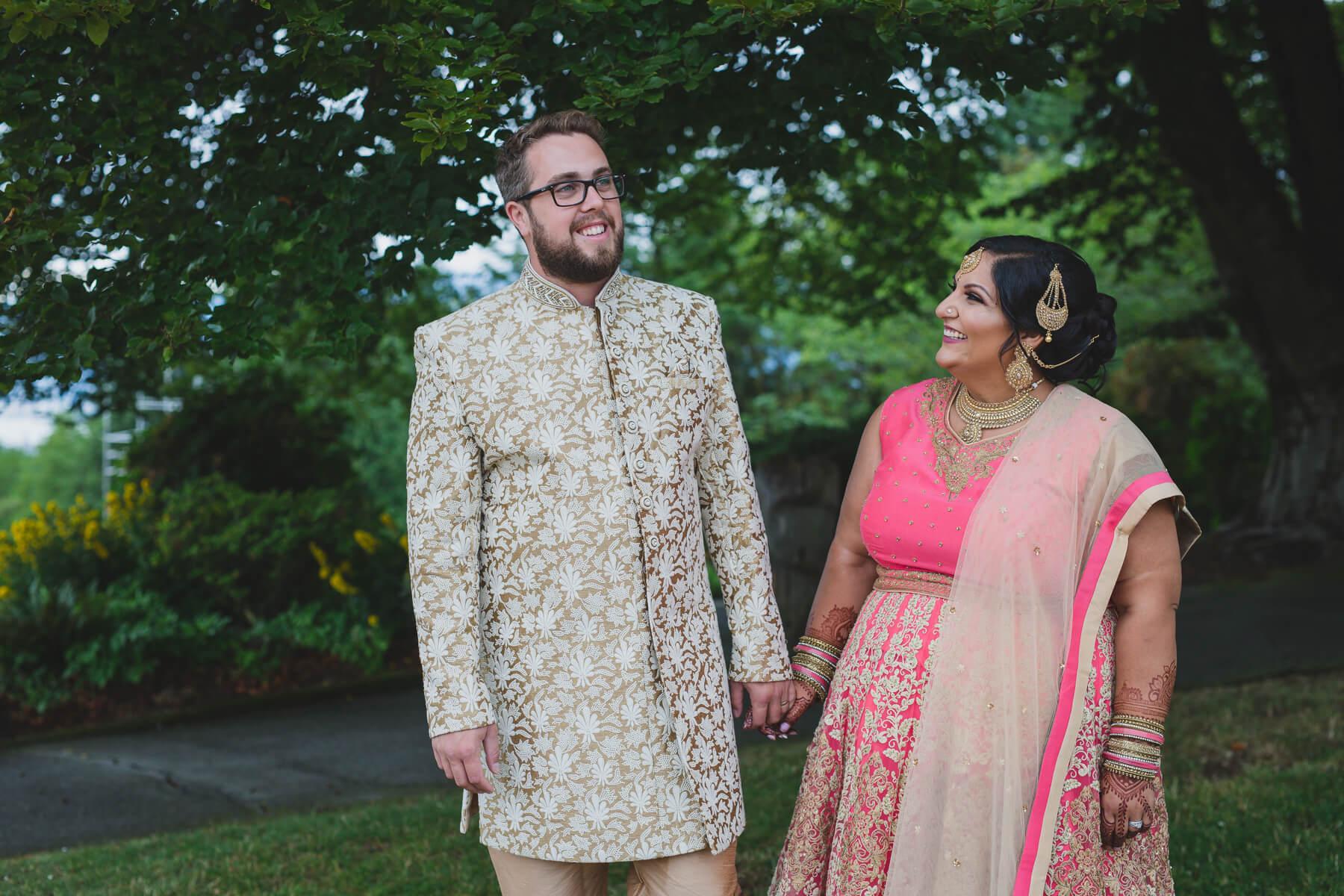 fusion wedding vancouver, couples photos