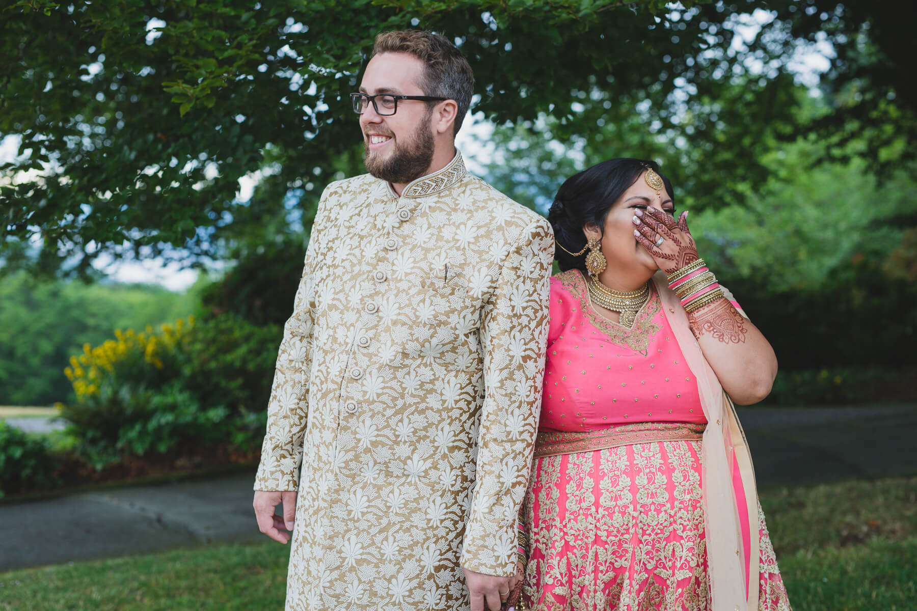 alternative wedding photographer vancouver, quirky bride and groom portrait