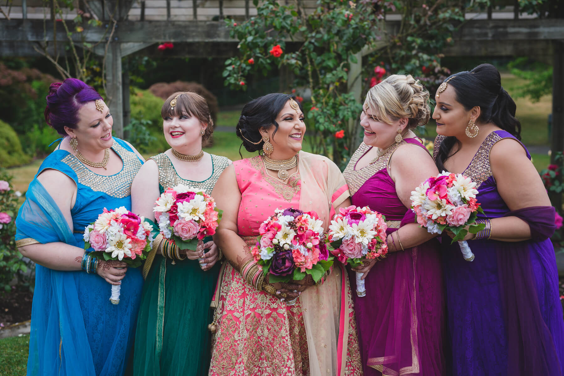 non-traditional indian wedding portraits