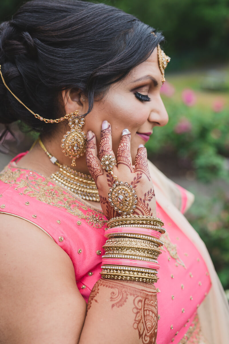modern indian bridal portrait
